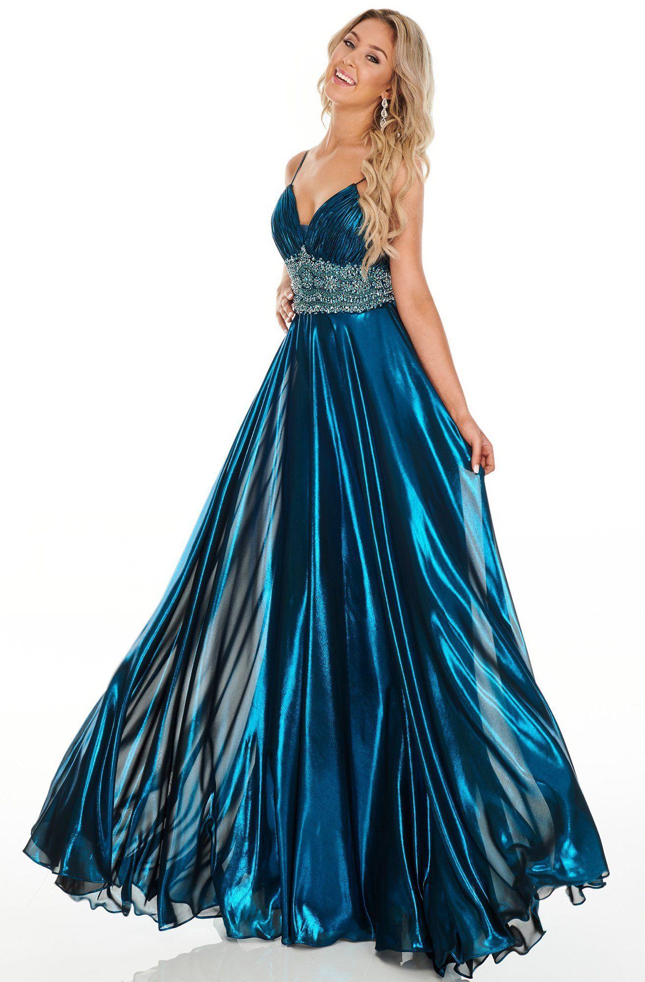 Rachel Allan Prom 7182 Beaded Midriff Metallic Chiffon Gown Rachel Allan Dresses Chiffon Gown Gowns [ 2000 x 1314 Pixel ]