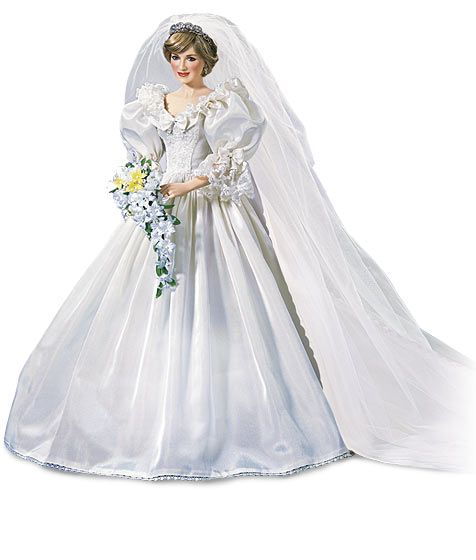 Princess Di Royal Wedding Gown from The Franklin Mint - Porcelain ...