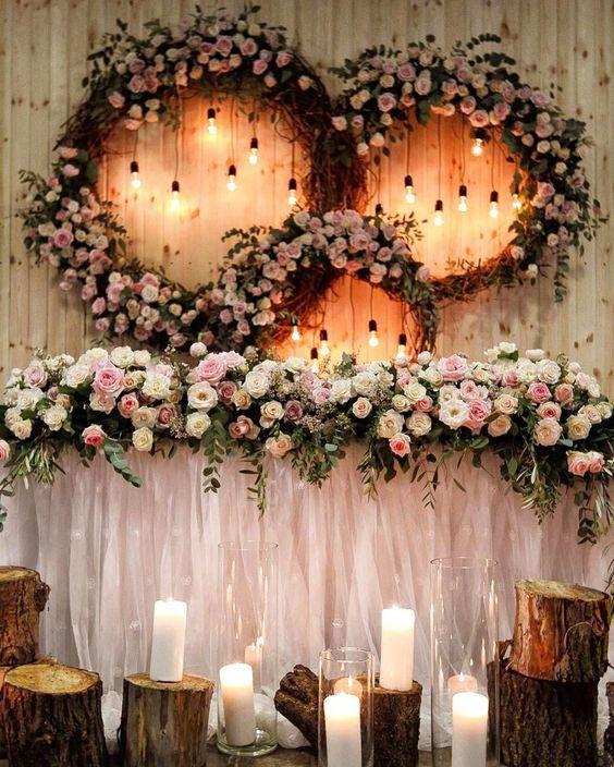 top 20 luxury sweetheart table decor ideas bridal table rh pinterest ca