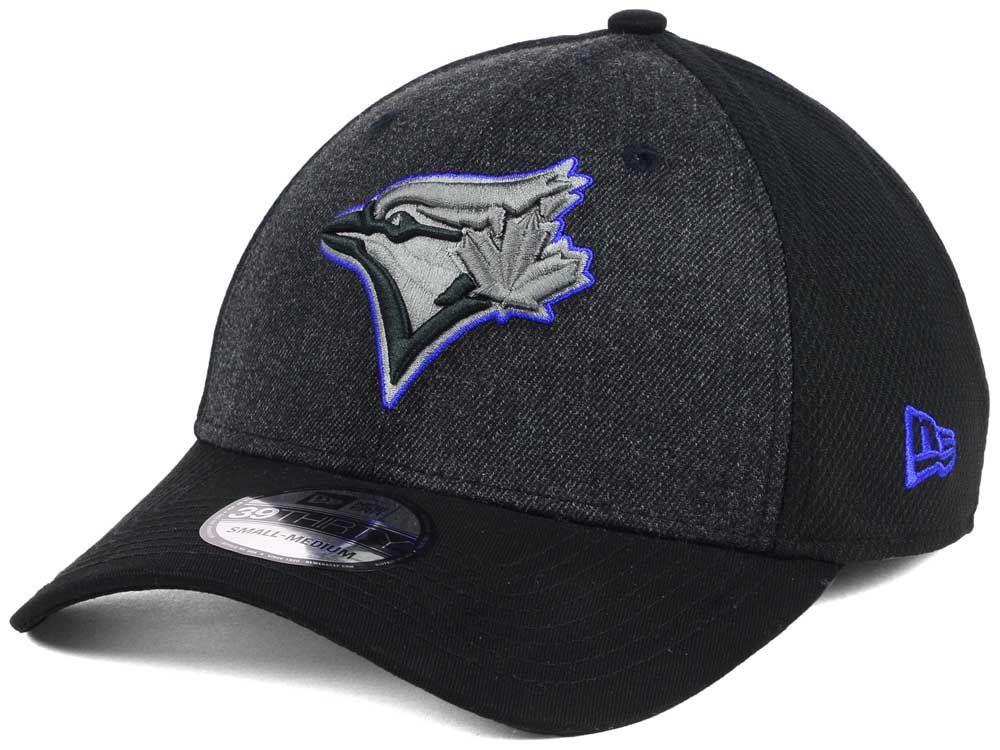 Toronto Blue Jays New Era MLB Black Heathered 39THIRTY Cap