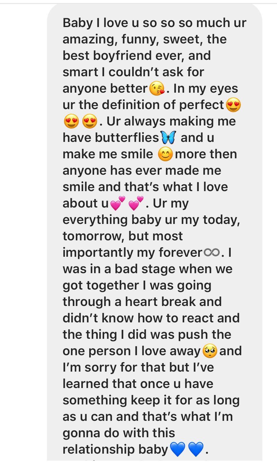 Paragraph for ur boyfriend  Cute messages for boyfriend, Cute