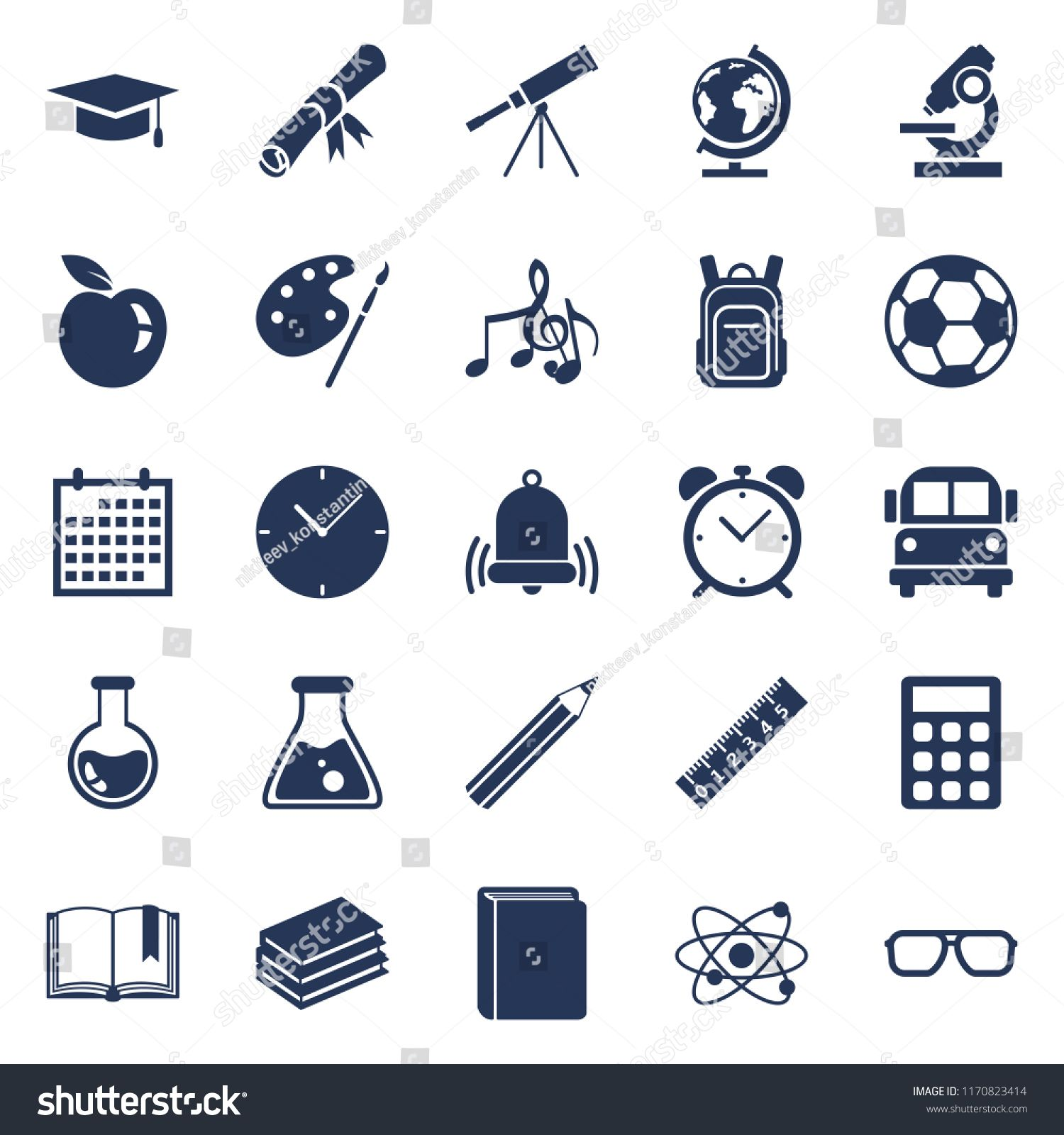 Vector Set Of Silhouette Education Symbols Back To School Icons Ad Sponsored Silhouette Set Vector Education School Icon Symbols Art Design