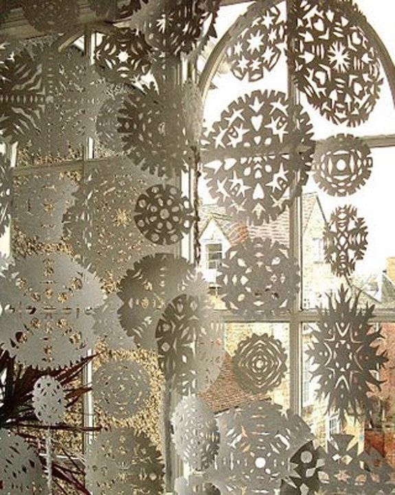 DIY KIT . . . Winter Wonderland Paper Snowflakes for Weddings, Special Events, Home Decor Ornament Decorations. $29.00, via Etsy.