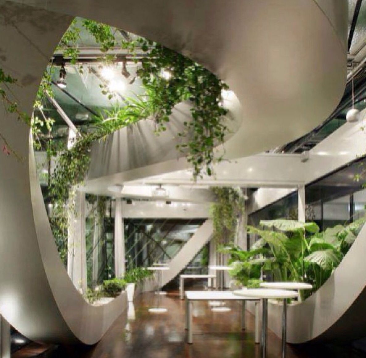 35 Indoor Garden Ideas To Green Your Home: Plant Life/vegetation Enhance This Atrium