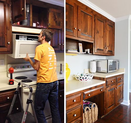 Replacing A Hanging Microwave With A Range Hood Microwave Above Stove Hanging Microwave Microwave With Vent