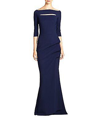 eea0d21dc3a807 La Petite Robe di Chiara Boni Kate Slit-Detail Boatneck Gown | MOB ...