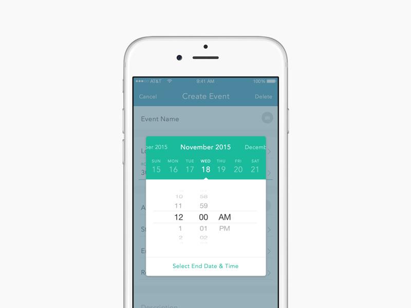 Select Date & Time App design, Dating, Ios app design