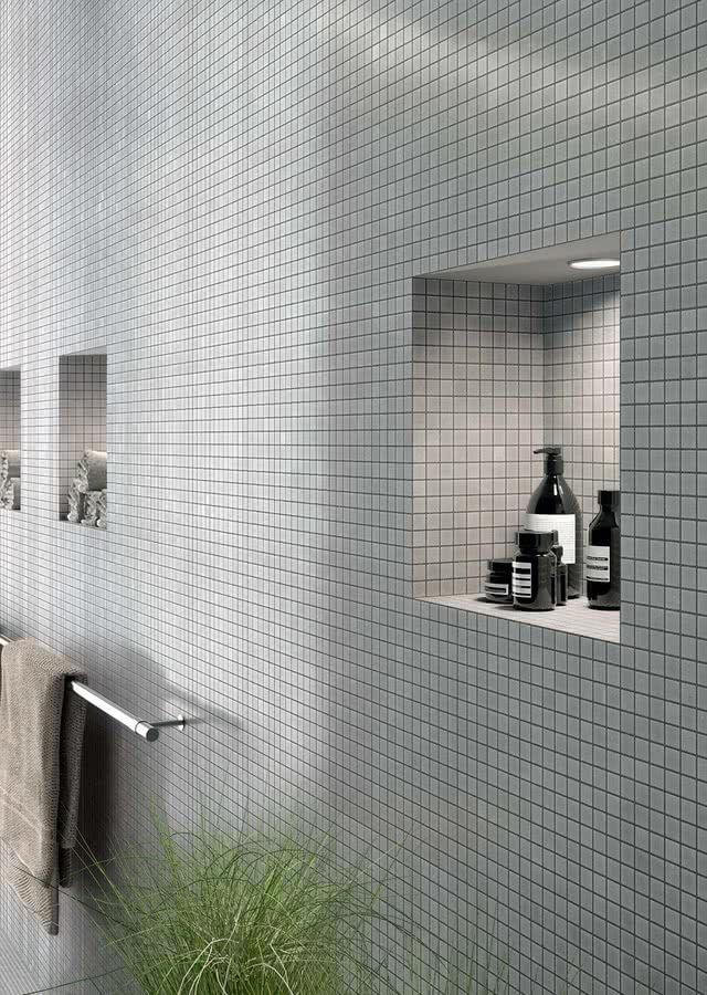 Marazzi-sistemv-glass-mosaic-1, Salle de bain, revêtement mur et sol