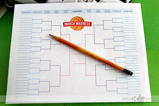 photograph regarding Acc Printable Bracket known as Top March Insanity Basketball Day Cost-free Printables