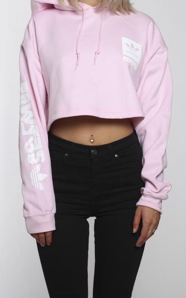 adidas originals pastel rose cropped top