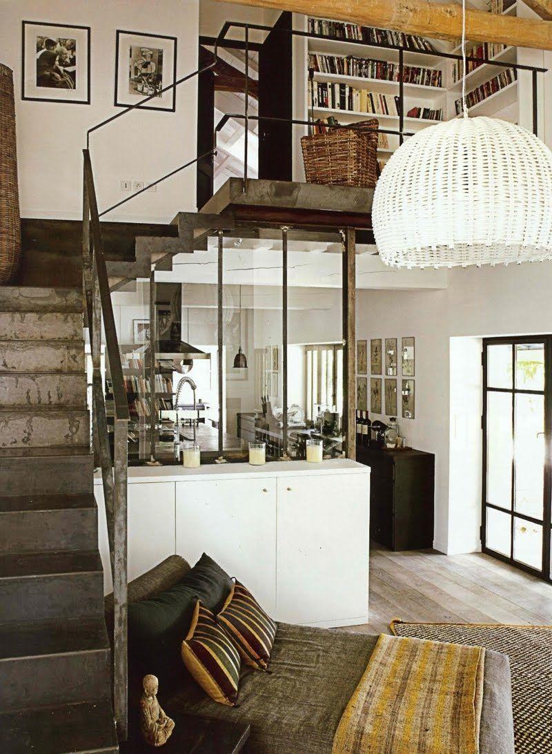 rustic split level loft with a cute day bed laurencfarkas rh pinterest com