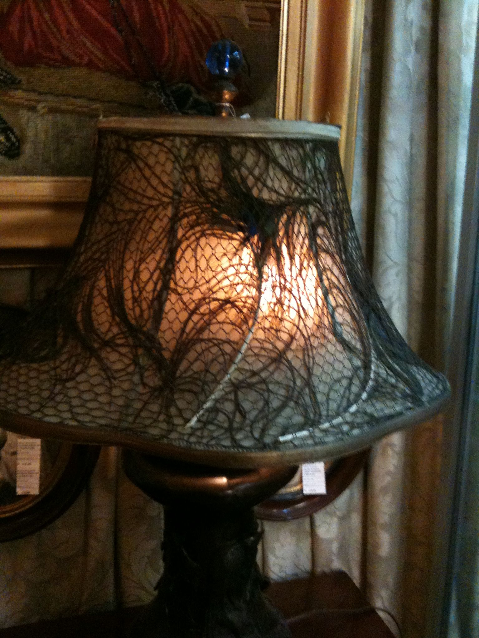 vintage lamp - love the textures here though I'm not sure why.
