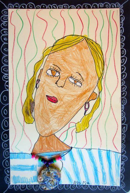 portraits with pendants cute self portrait art lessons