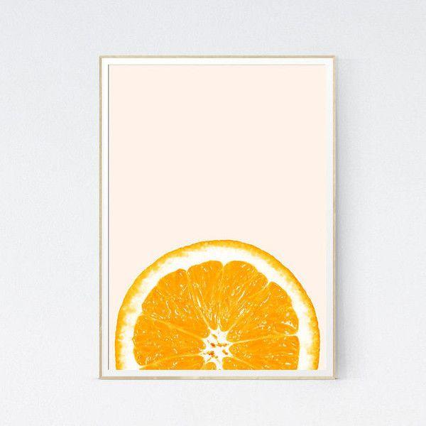Orange Print, Lemon Wall Art, Avocado Poster, Kitchen Decor, Modern ...