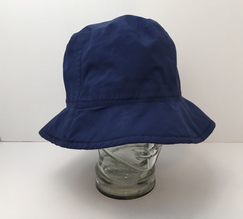 Forresters Blue Gore Tex Bucket Cap Golf Hat Packable XL X-Large Made In USA 7c062d09e54