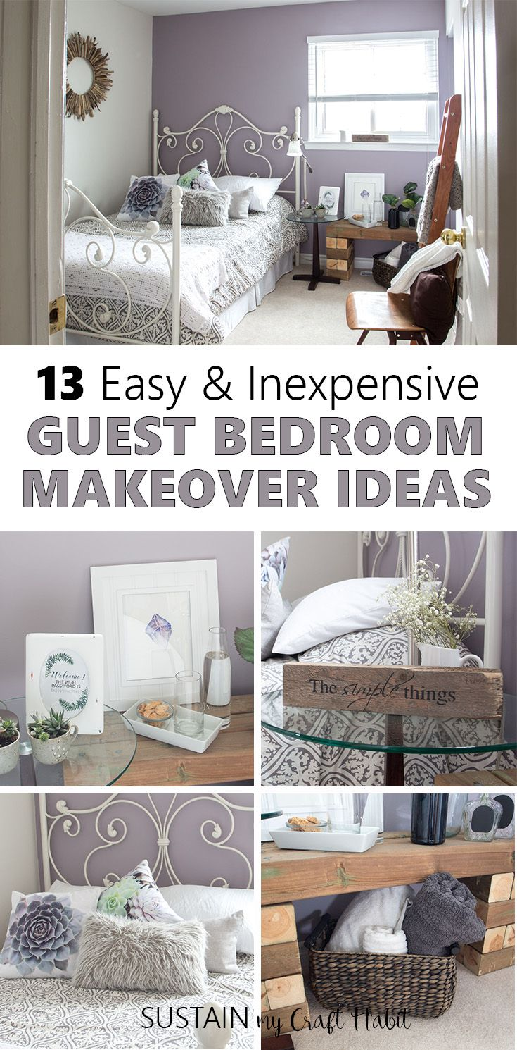 mauve lous guest bedroom ideas a simple spare room refresh home rh pinterest com