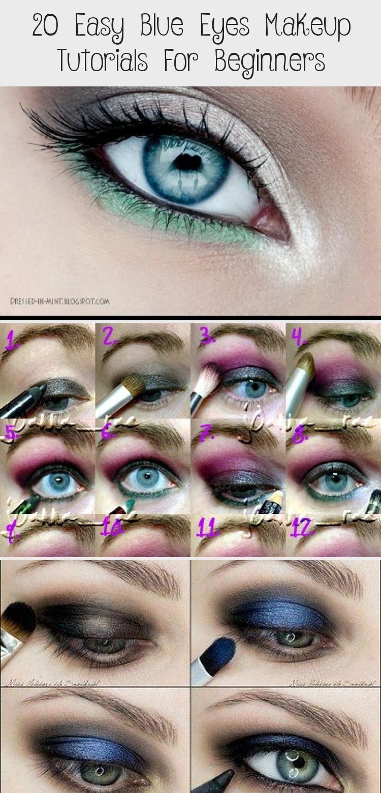 Beginners Blue Easy Eye Eyes Makeup Tutorials 20 Incredible