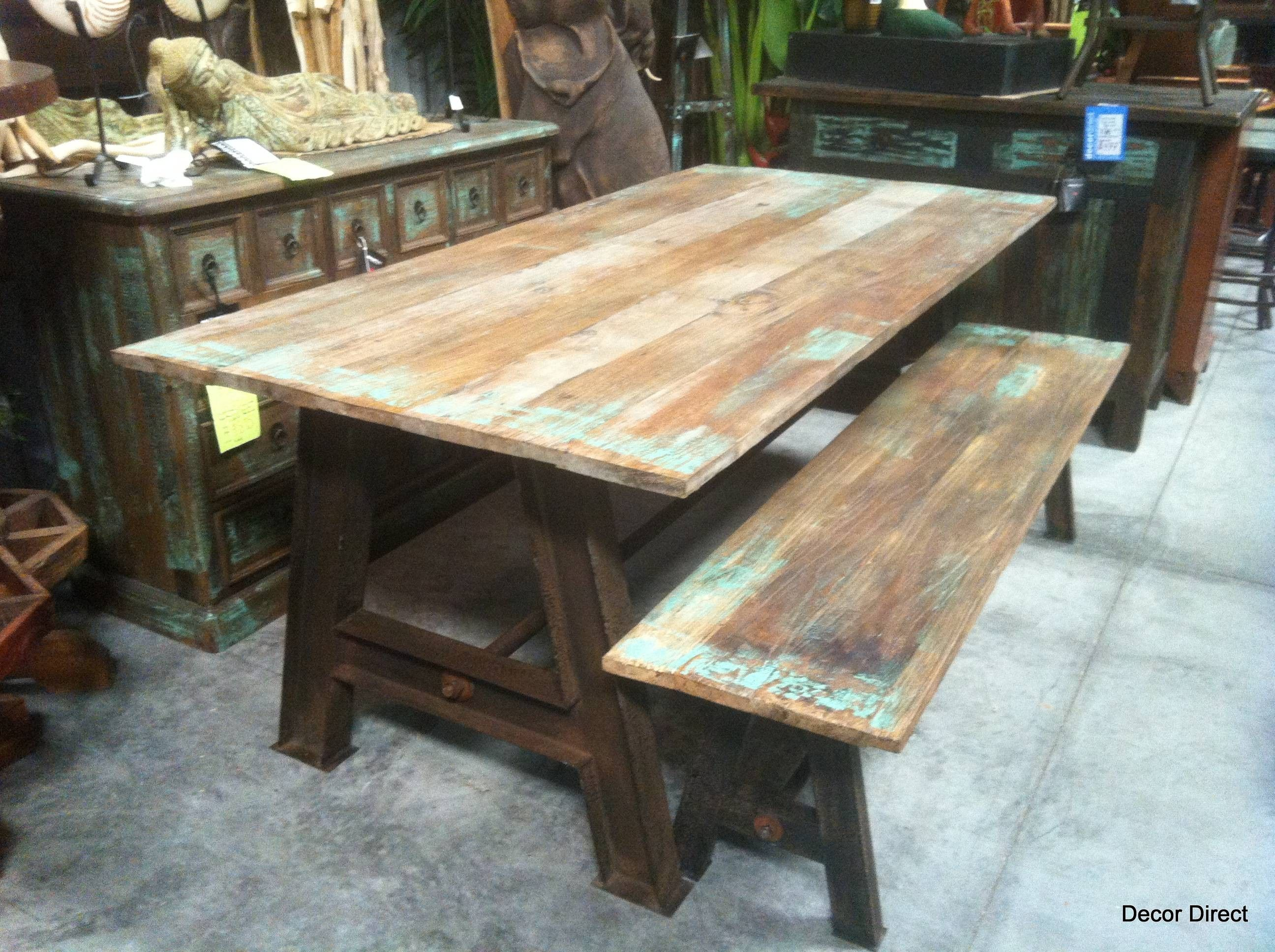 Dining Table Industrial Reclaimed 595 Sarasota