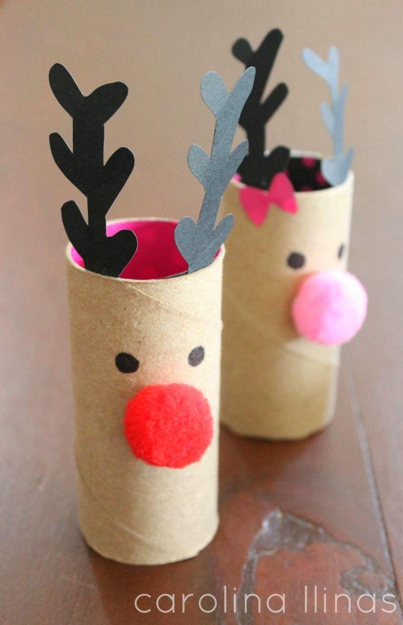 Toilet paper roll reindeer craft Toilet paper