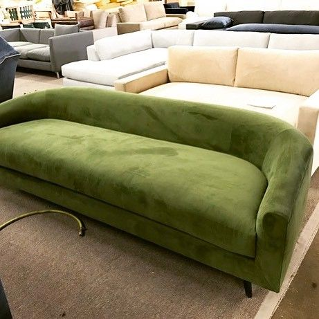 look at this beauty of a sofa in martini olive green velvet that we rh pinterest com