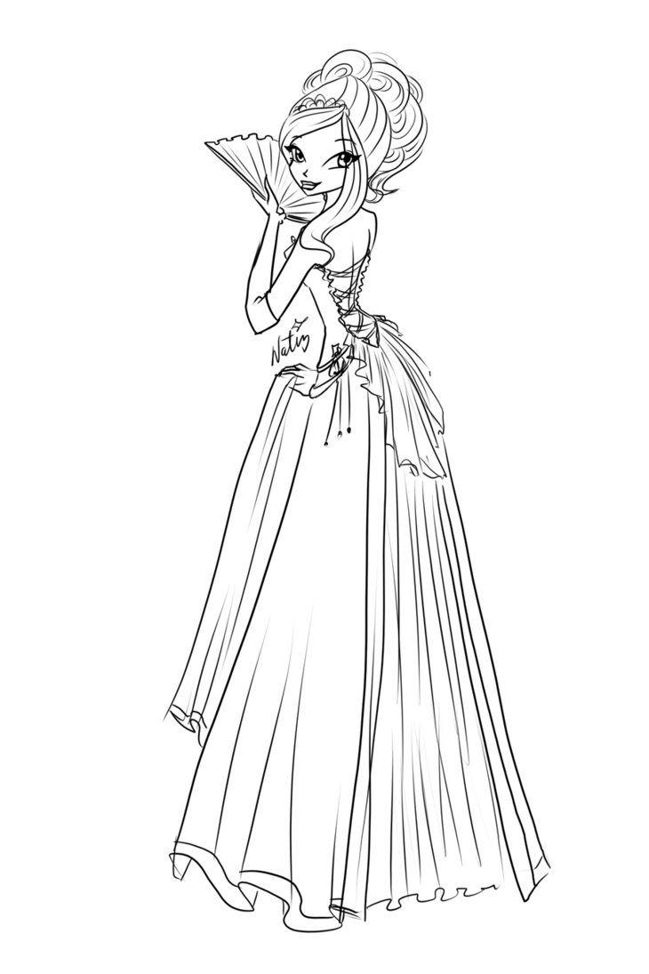 com sketch rose ball dress by laminanati on deviantart coloring