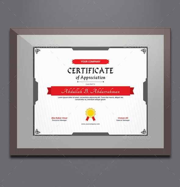 Certificate Appreciation Certificate, Infographic templates and - certificate of appreciation