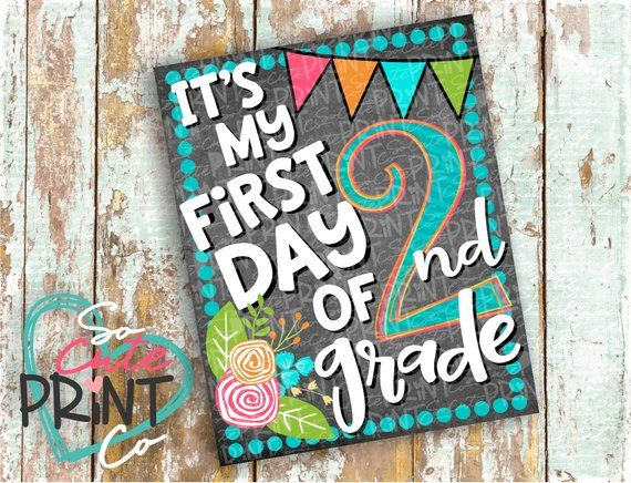 graphic relating to First Day of 2nd Grade Printable Sign known as Back again toward college or university, Initial working day of faculty indicator, 2nd quality