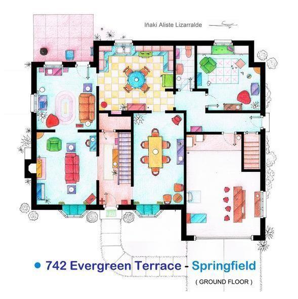 Artist Recreates TV Show Apartments With Intricate Floorplans: #TheBigBangTheory