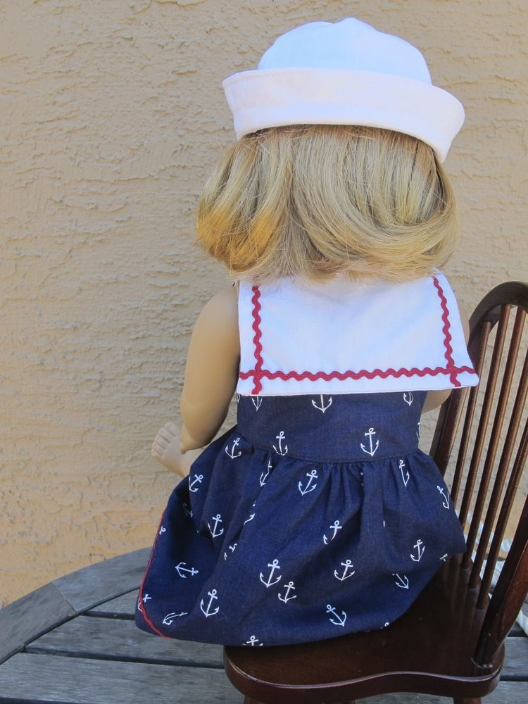 09f5d0774b3 Image of Sailor Dress and Sailor Hat sewing pattern BUNDLE for 18