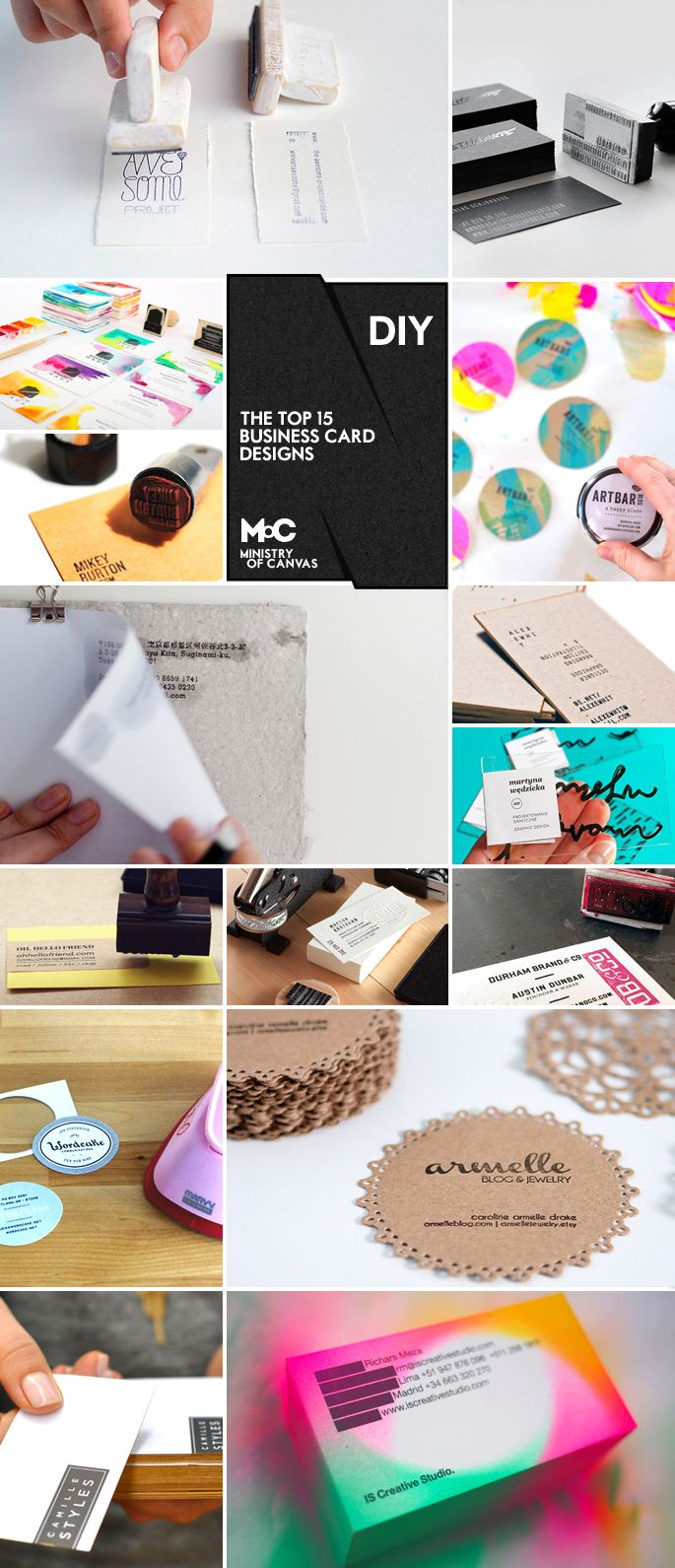 6 super easy ways to create handmade diy business cards pinterest the top 16 diy business cards 6 super easy ways to create handmade diy business cards reheart Images
