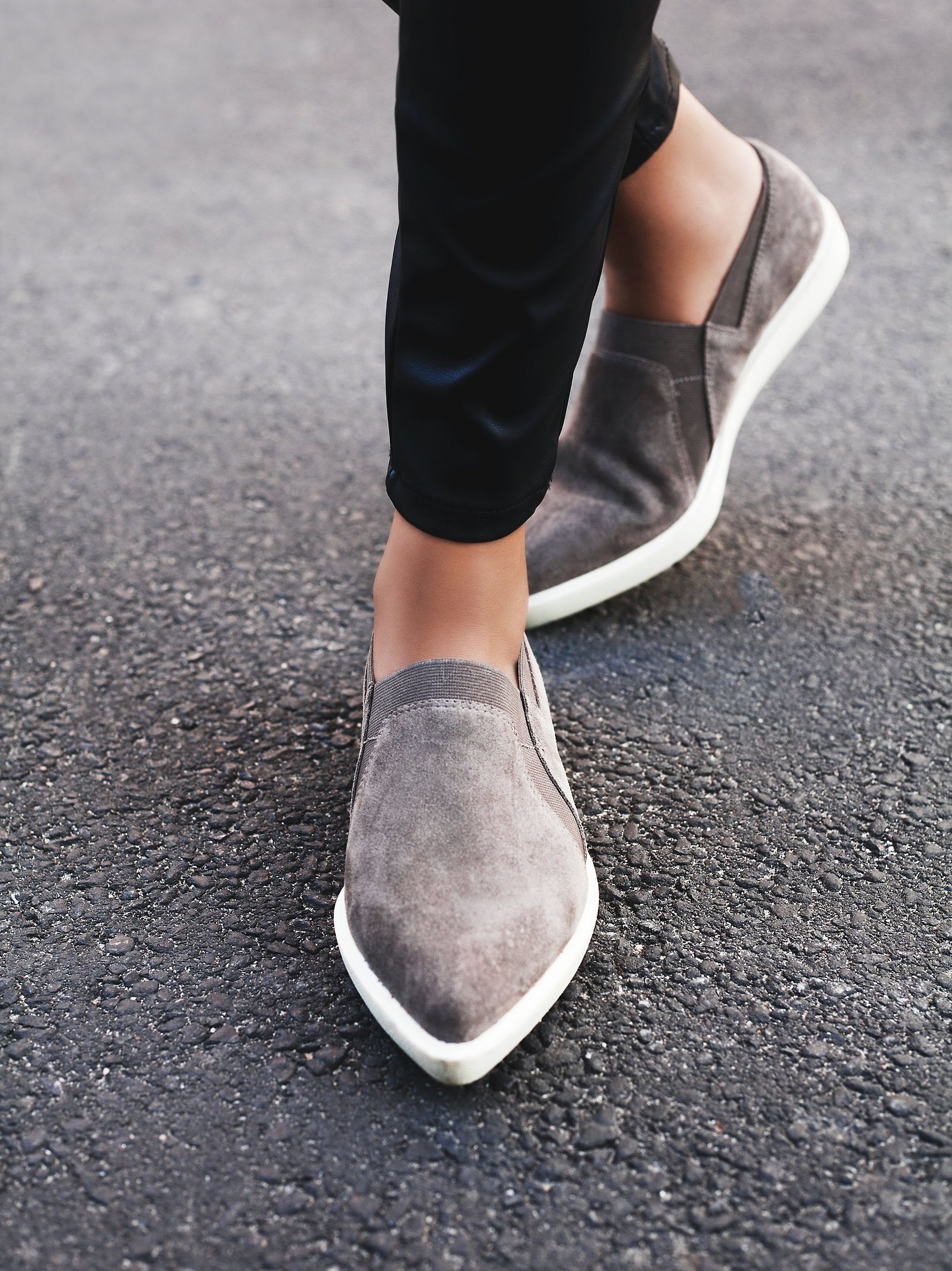 Yvonne Slip-On Sneaker | Modern and minimal suede slip-on sneakers with  pointed