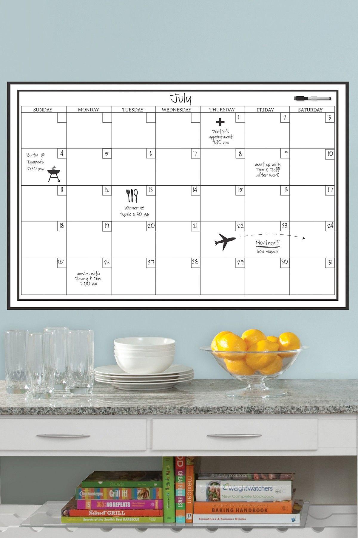 Dry Erase Calendar Wall Decal Calendar Decal Dry Erase Calendar