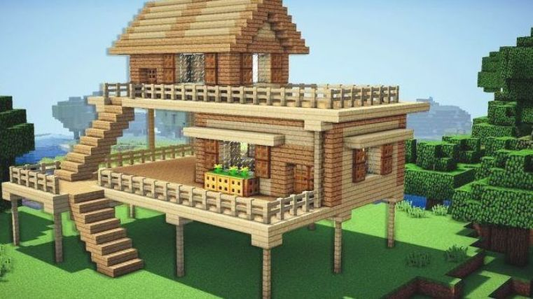 Minecraft Houses Easy Tiny And Small House Tutorials Minecraft Seeds Minecraft Ideas Wallpap Minecraft Starter House Minecraft Farm Minecraft Farm House