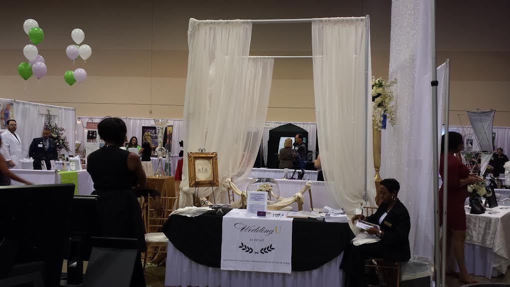 Wedding U by De'Jave booth at the #GeorgiaBridalShow in Gwinnett County, Georgia!