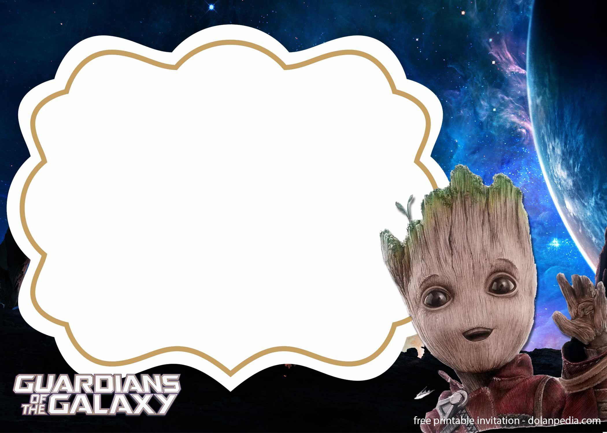 Nice FREE Template 5+ FREE Baby Groot Birthday Invitation