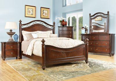 laurel view cherry 5 pc queen poster bedroom bedroom deco rh pinterest com