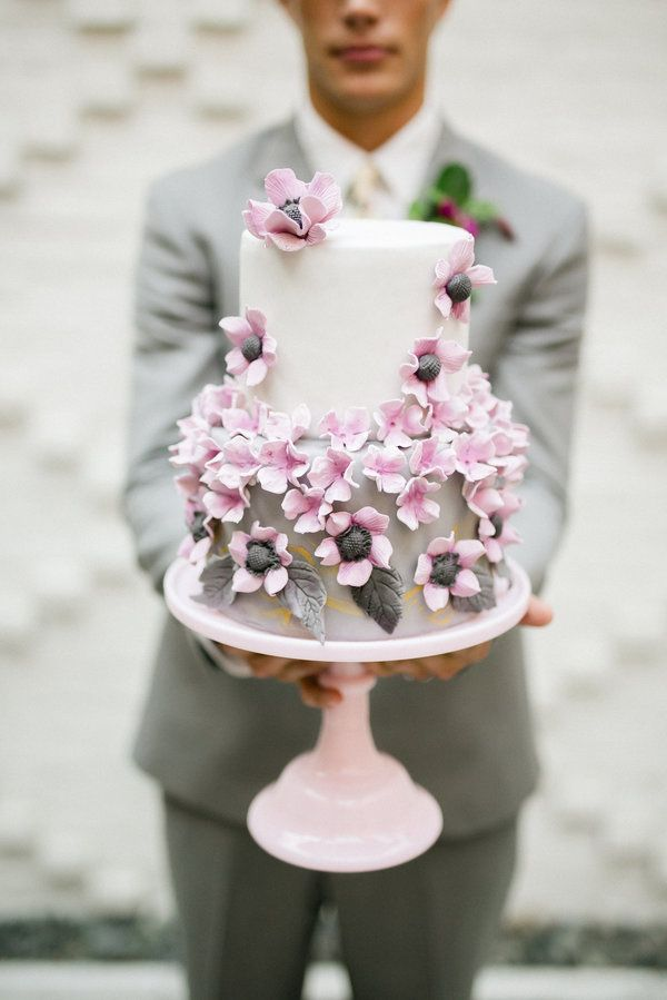 black white purple wedding reception%0A Purple hue Wedding Cake  Inspired by This