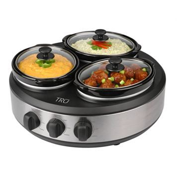 tru 3 crock round buffet slow cooker products i love triple slow rh pinterest dk