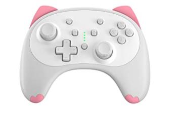 Kawii Iine Cartoon Kitten Wireless Controller For Nintendo Switch Lite White Small Size Nintendo Switch Accessories Nintendo Switch Games Nintendo Switch