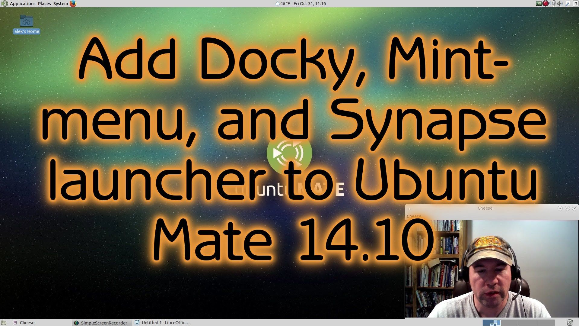 A tutorial showing how to add Docky, Mint-menu and the