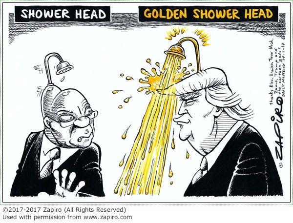 Zuma Trumped by Zapiro #cartoon #sacomics #comics #zapiro