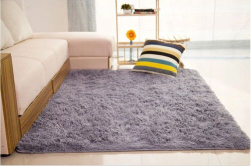 fluffy rugs anti skid shaggy area rug dining room home bedroom rh pinterest com