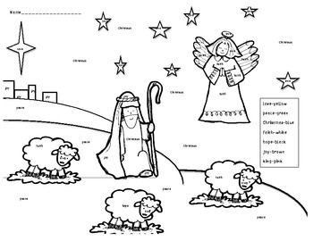 free christmas coloring pages manger shepherds wiseman | Nativity Color by Christmas Word-Kindergarten | Christmas ...