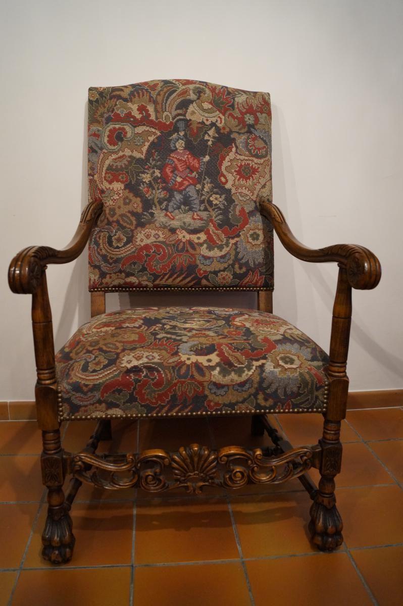 grand fauteuil de style louis xiii fauteuils louis xiii 1610 1643 pinterest. Black Bedroom Furniture Sets. Home Design Ideas