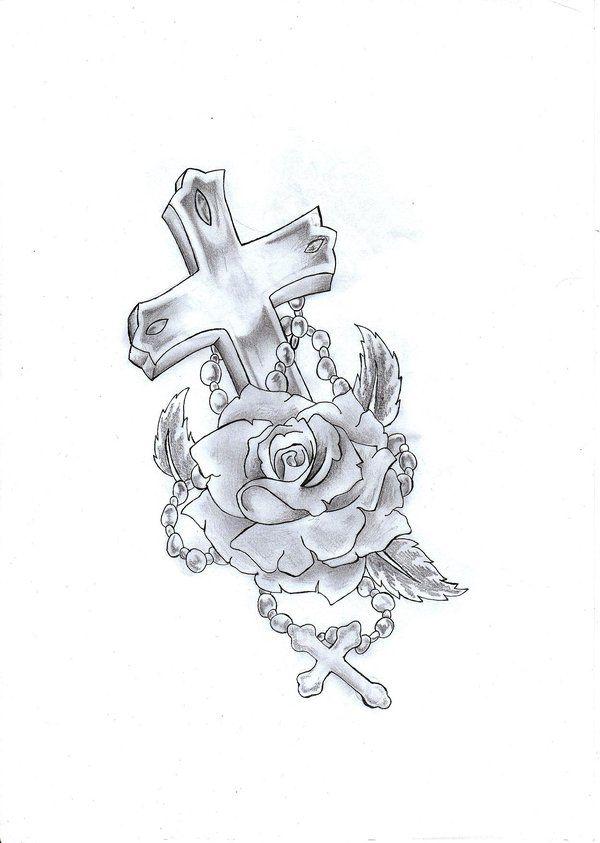 Roses Tattoo Designs Stats Tatouage De Chapelet Tatouage