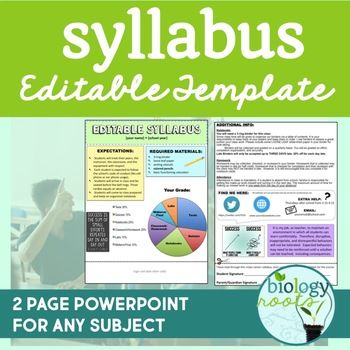 Editable Syllabus Template  Syllabus Template Powerpoint Format