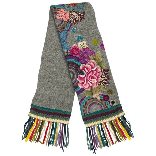 Desigual Floral Embroidered Scarf dbba3b296aa