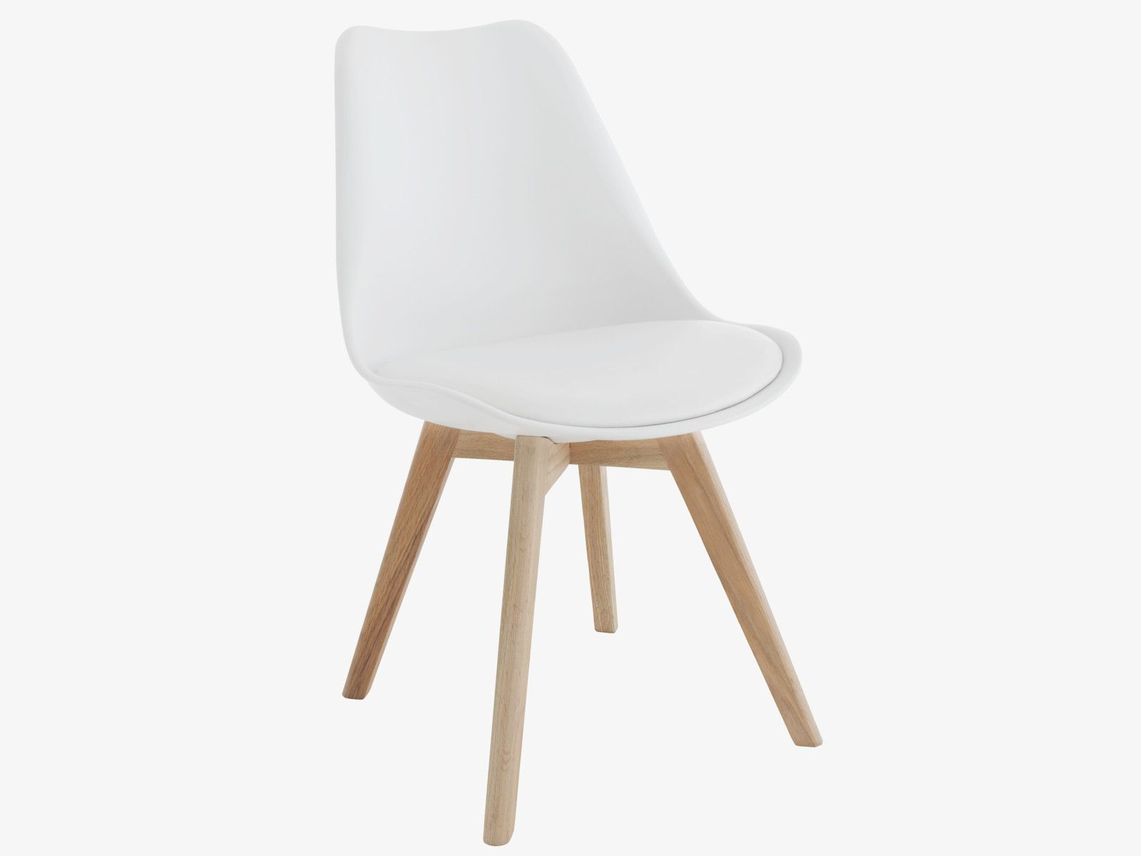 Jerry White Dining Chair With Solid Oak Legs Habitat Furniture