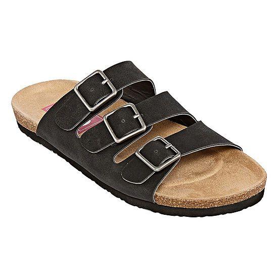 24f06941fb4d Pop Zuri Womens Adjustable Strap Footbed Sandals Slide Sandals