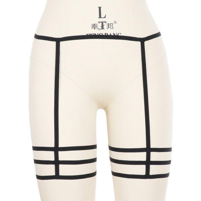 1a39cdb8829 Women Sexy Leg Garter Belt Cage Body Harness Hollow Leg Garter Suspender  Belt Strap Underwear Strap
